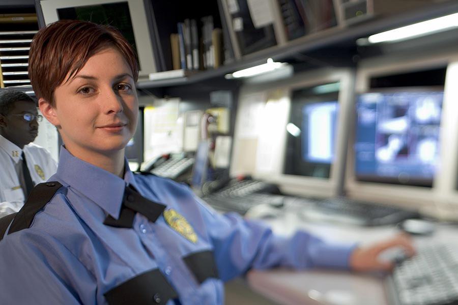 Women Guard At Desk