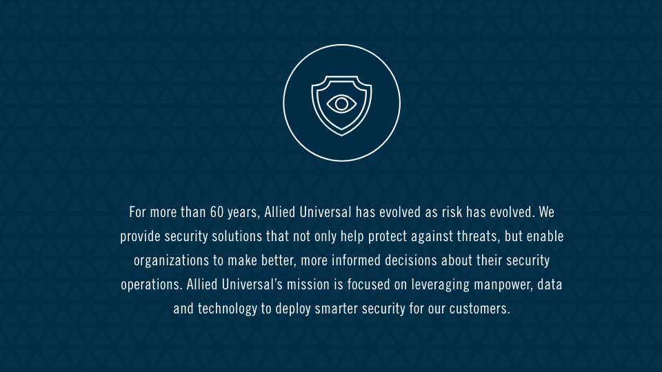 Allied Universal Security Services, Systems and Solutions